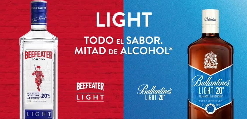 Low-alcohol- Beefeater-Light-Ballantine´s-Light